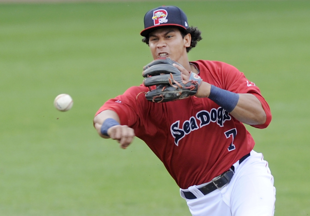 Sea Dogs shortstop Marco Hernandez is one of five Sea Dogs named to the Eastern Division team that will play the Western Division in the Eastern League All-Star Game on July 15 at Hadlock Field.