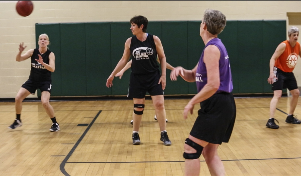"The Maine Senior Women's Basketball team practices in May for their shot at a national championship. The team will compete in Minneapolis at the national tournament next week. ""It's so exciting,"" team member Rita Perron, 73, says."