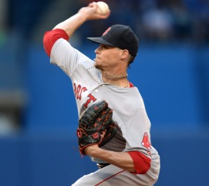Red Sox pitcher Clay Buchholz had another strong start Monday night in a win against the Toronto Blue Jays. Buchholz allowed the Blue Jays one run on five hits in eight innings.