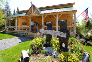 Marty Velishka and Ray Heaton are among members of the Rangeley Logging Museum that have resurrected the old museum and built several hiking trails around the property.