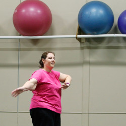 McCarthy has used exercise, including a Zumba class taught by Sherisse Wormell, to help her reach her weight loss goals.