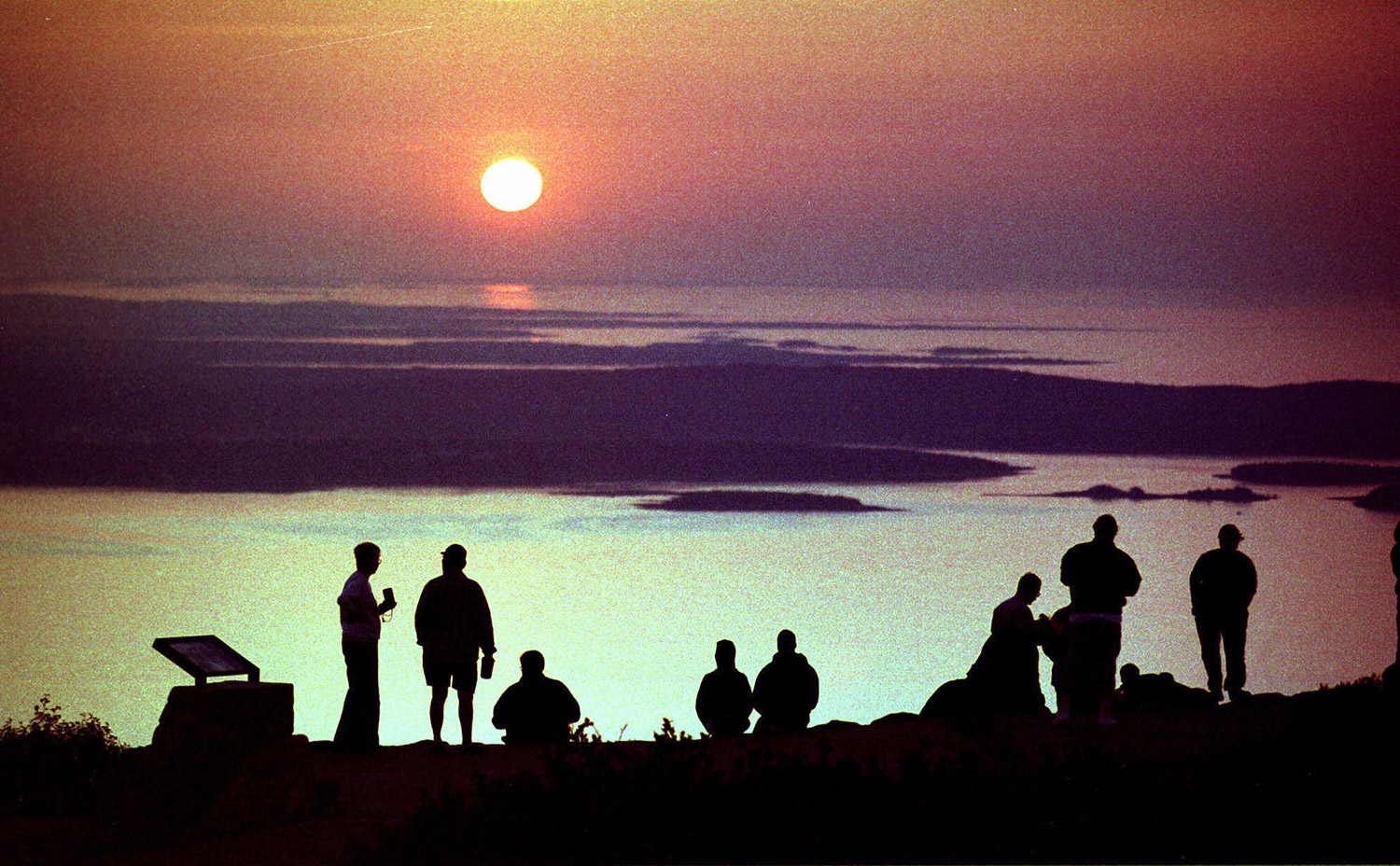 the sun rise from the summit of cadillac mountain near bar harbor. Cars Review. Best American Auto & Cars Review