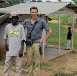 In Liberia last year, Ben Morse, right, and his colleagues oversaw a door-to-door survey of residents seeking statistical evidence that would help to inform efforts to stem uncontrolled Ebola transmissions. Contributed photo