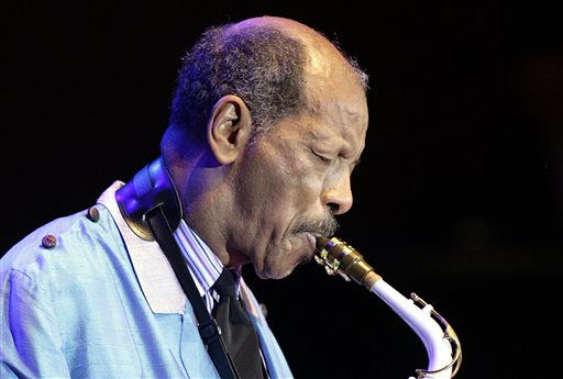 Jazz innovator Ornette Coleman performs at a 2007 concert in  Essen, Germany. In his later years, he became a respected elder statesman, with membership in the elite American Academy of Arts and Letters and a Grammy lifetime achievement award, even though none of his recordings ever won a Grammy. The Associated Press