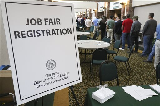 A crowd gathers for a huge 15-county job fair at The Colonnade in Ringgold, Ga., recently.