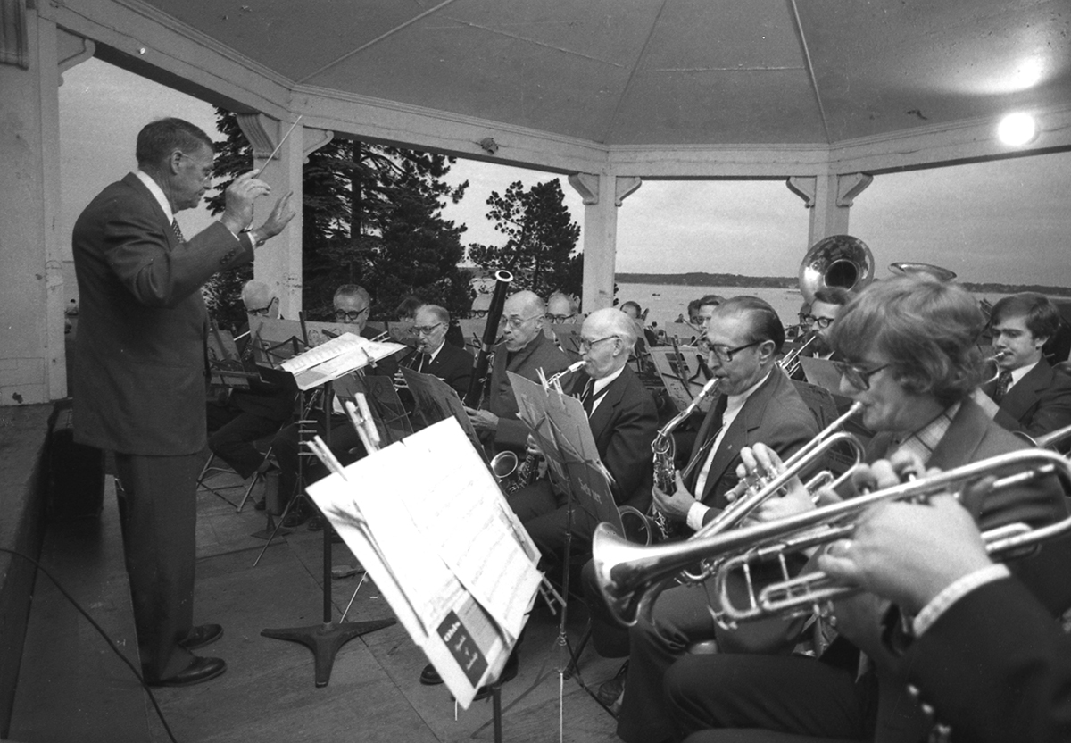 Flashback: A band plays in Fort Allen Park on July 4, 1978. From the July 5 1978 Portland Evening Express.