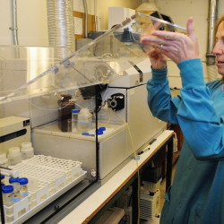 Chemist Cheryl Soucy runs water tests in the Maine Center for Disease Control and Prevention lab in 2014 in Augusta.
