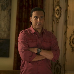 """Aasif Mandvi stars as Rafiq, a driver for the U.S. Embassy in Islamabad, in """"The Brink."""""""