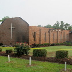 The Mount Zion AME Church in Greeleyville, S.C., was heavily damaged by fire started by a lightning strike.