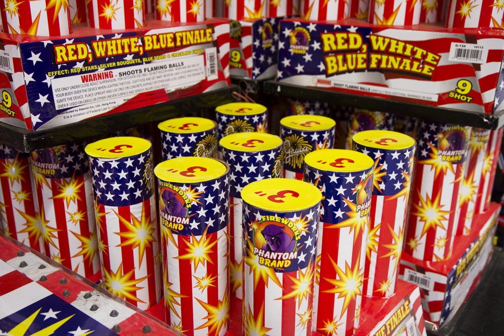 At Phantom Fireworks in Scarborough, kits of aerial fireworks are the top sellers, with prices ranging from $50 to $1,500.