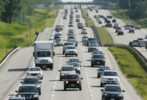 Traffic was heavy on Interstate 95 in Scarborough on Thursday. The Maine Turnpike Authority is bracing for the possibility of more than 1 million transactions at the tollbooths along the state's principal thoroughfare during the Fourth of July weekend.