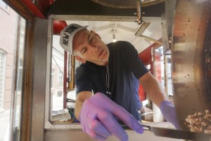 Mark Flannigan works at the Popcorn Wagon in Pittsfield, Mass., a program that teaches business skills. Employment may be up but many older workers are underemployed.