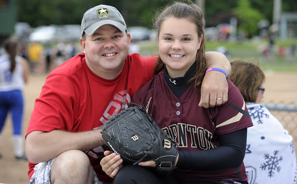 Bailey Tremblay, who led Thornton Academy to the Western Class A softball final last month, is following in the footsteps of her father, Travis, by joining the military. She'll spend a year in training, then enter the University of New England.
