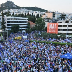 Demonstrators rally in Athens on Friday. Greeks will vote Sunday on whether to accept more austerity.