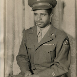 Pvt. Rothacker Smith served in the 366th Infantry Regiment and was stationed in southern Italy, where he was wounded, and then captured and spent the rest of the war as a POW.