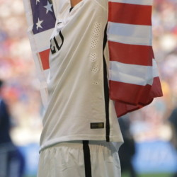 Abby Wambach ended her World Cup career in dream fashion Sunday night, enveloped in the flag, celebrating a clinching victory for the United States.