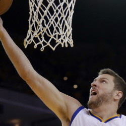 David Lee saw his playing time diminish at Golden State this year, but was still seen as a key figure in the Warriors' run to the NBA title. Lee, who was named to the NBA All-Star team in 2013, has averaged 14.7 points and 9.5 rebounds  per game in his 10-year career. The Associated Press