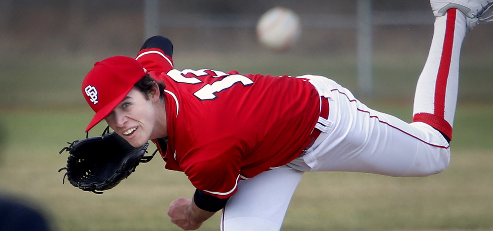 Henry Curran of South Portland put together a number of dominating performances this season, including 19 strikeouts in a win over Cheverus and 14 in a game against Portland.