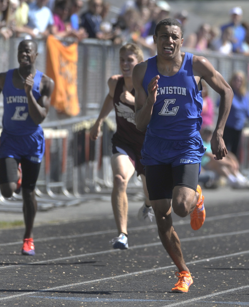 Isaiah Harris showed his versatility at the Class A state meet, winning the 200, 800 and 1,600 meters and running the anchor leg for the winning 1,600 relay team. A week later, he won a New England title in the 800.