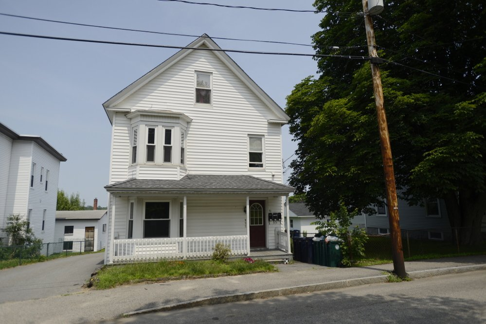 """This apartment building at 41 Clifford St. in Biddeford was the target in Sunday's """"swatting"""" incident."""