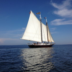 The Schooner J. & E. Riggin. Sailing in fair weather is optimal, but a plan and flexibility saves a galley cook in rough seas.