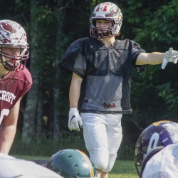 Windham defensive back Tanner Laberge will get to play in his final football game Saturday for the East in the Lobster Bowl at Biddeford. Laberge is going to the University of Southern Maine in the fall and will play baseball.