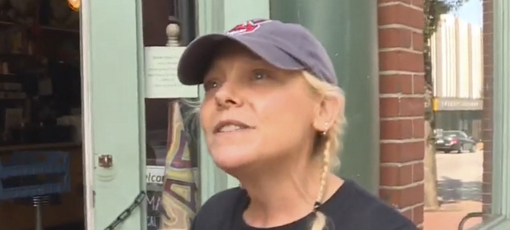 Marcy's Diner owner Darla Neugebauer is interviewed by WCSH-TV after a clash with a patron over a screaming toddler led to a battle on Facebook.