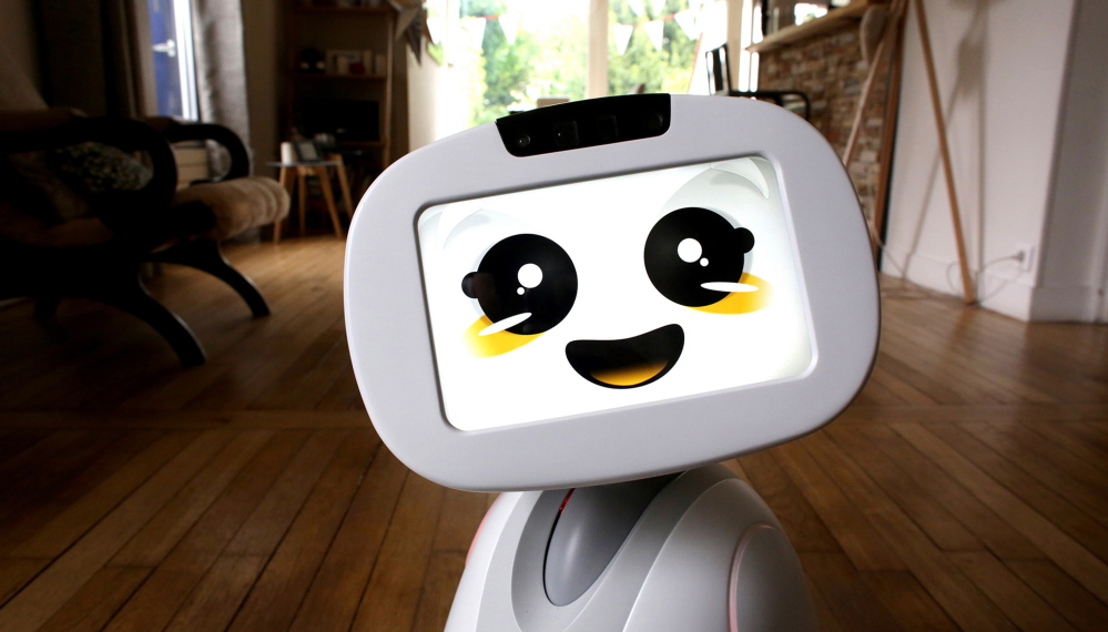 Buddy, by the French firm Blue Frog Robotics, is a social robot designed specifically for the home. It can snap photos of the family and read stories to kids.