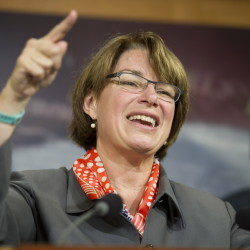 Sen. Amy Klobuchar, above, and Rep. Debbie Dingell, below, offer compelling personal stories.