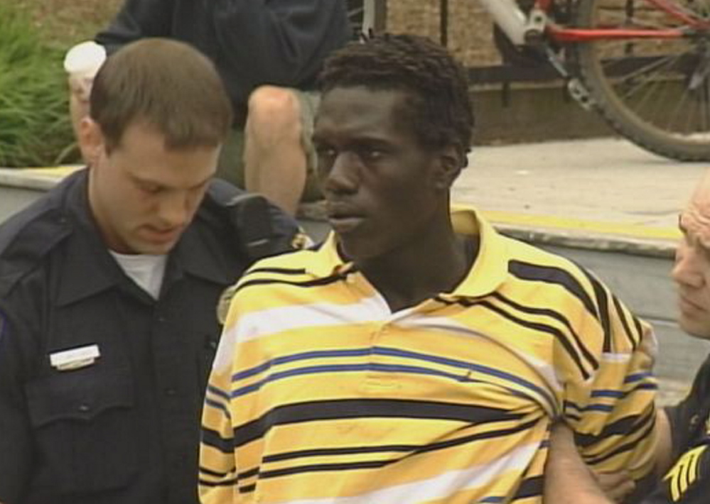 Jimmy Odong is arrested in 2009 after a two-mile car chase through Bayside and downtown Portland.
