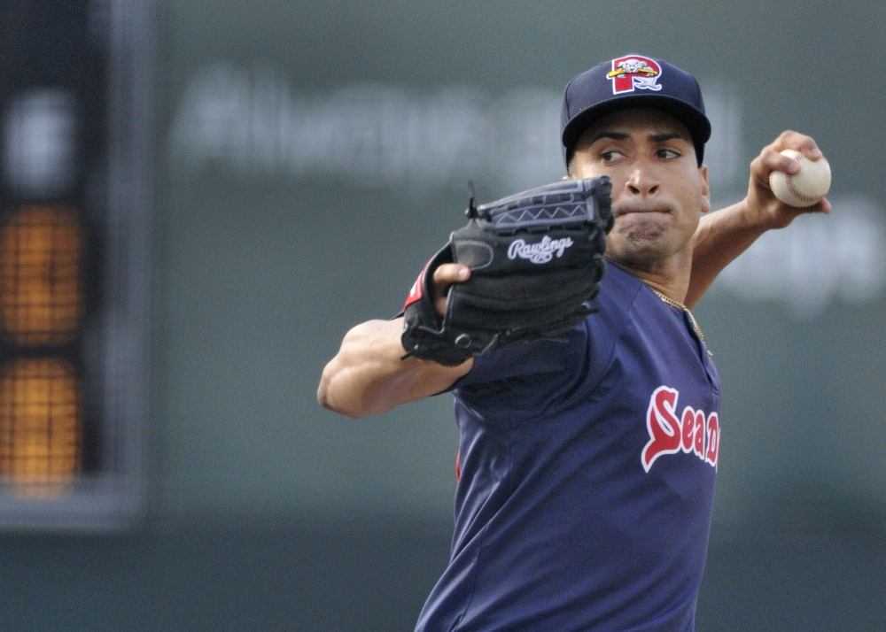 Williams Jerez, 23, is moving quickly through the Boston Red Sox system since the team converted him from an outfielder to a pticher after the 2013 season. John Ewing/Staff Photographer