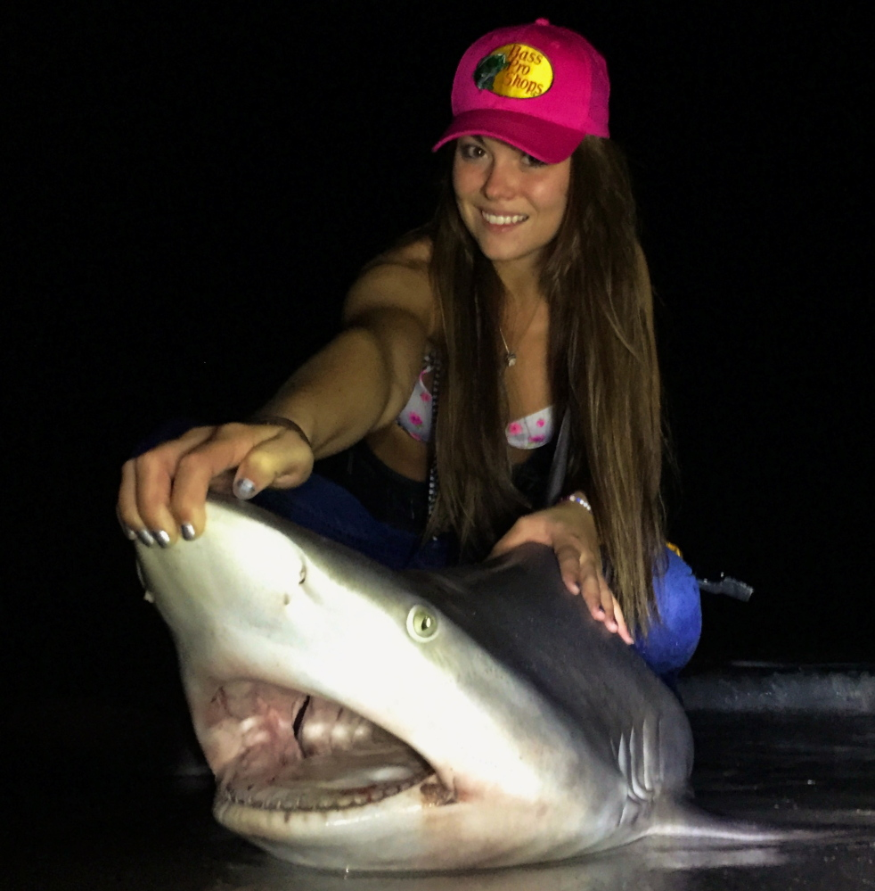 Miss Maine Marisa Butler has caught and tagged nearly 30 sandbar sharks this year.
