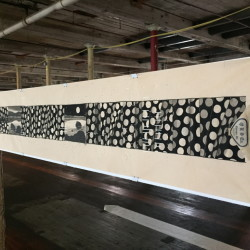 """""""A Walk Between Two Moons,"""" by Gayle Fraas and Duncan Slade at the Bates Mill Complex in Lewiston."""