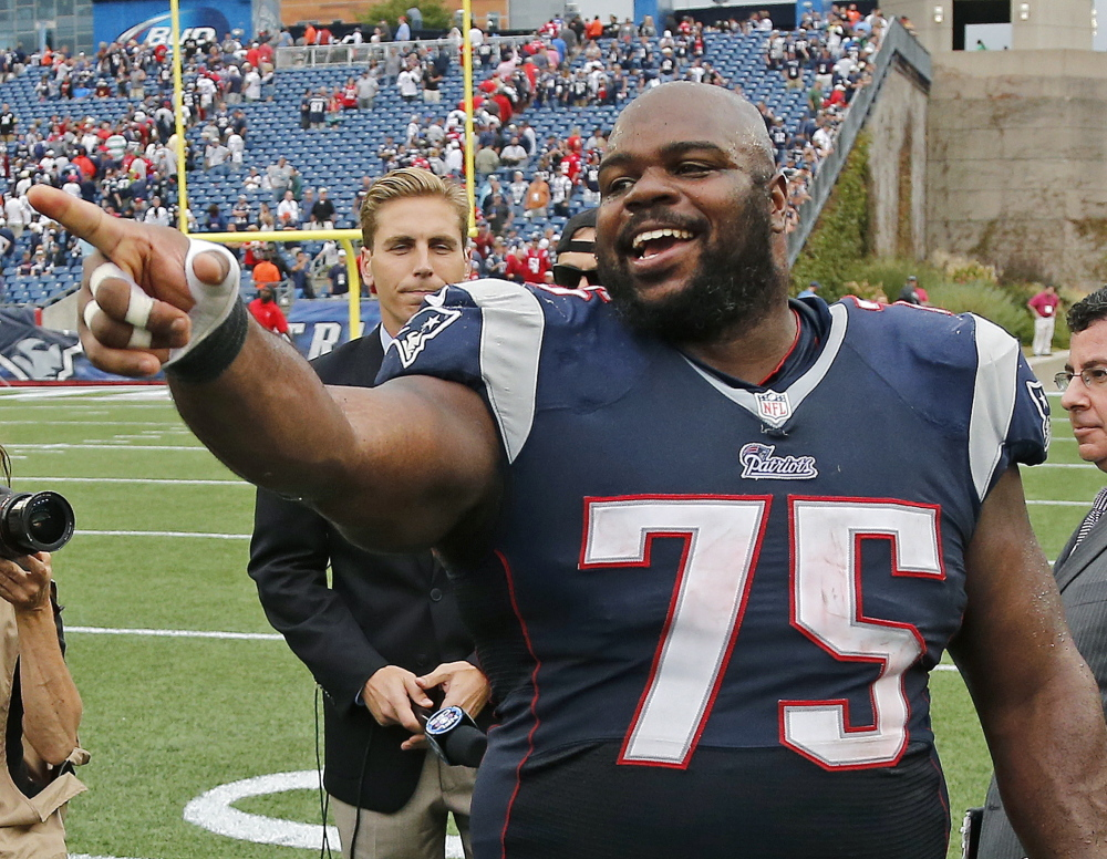 NO VINCE: After 11 seasons in New England, Vince Wilfork signed with Houston.