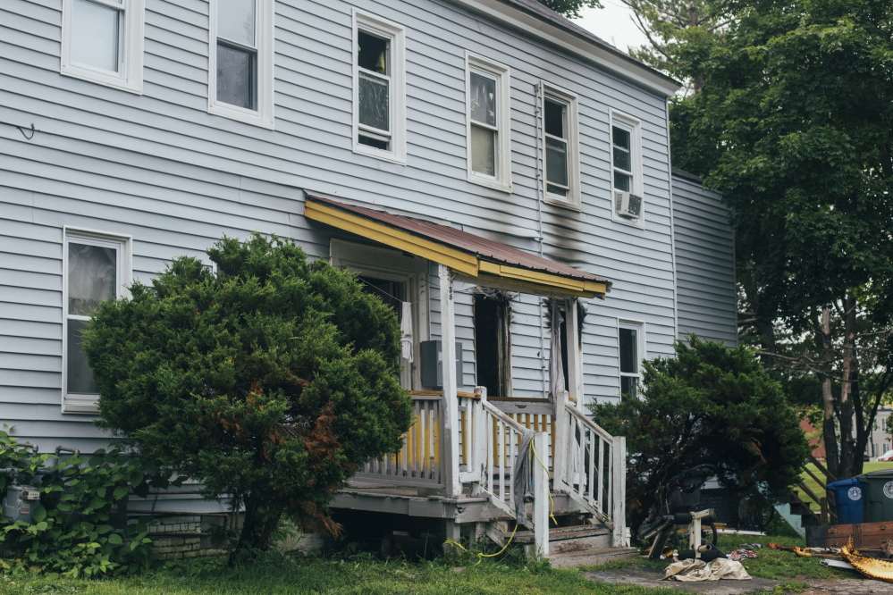 A fire overnight at 135 Bridge St. in Westbrook displaced 10 people on Monday.