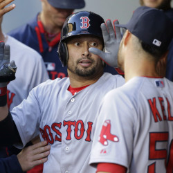 The Boston Red Sox traded outfielder Shane Victorino to the Los Angeles Angels on Monday. Boston sends Victorino and more than $3.8 million to L.A. in return for infielder Josh Rutledge. The Associated Press