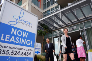 Visitors arrive for the grand opening of Gibson Santa Monica, a new luxury apartment complex in downtown Santa Monica, Calif. Residential rents, the biggest driver of inflation in 2015, climbed 3.5 percent in June from a year earlier.