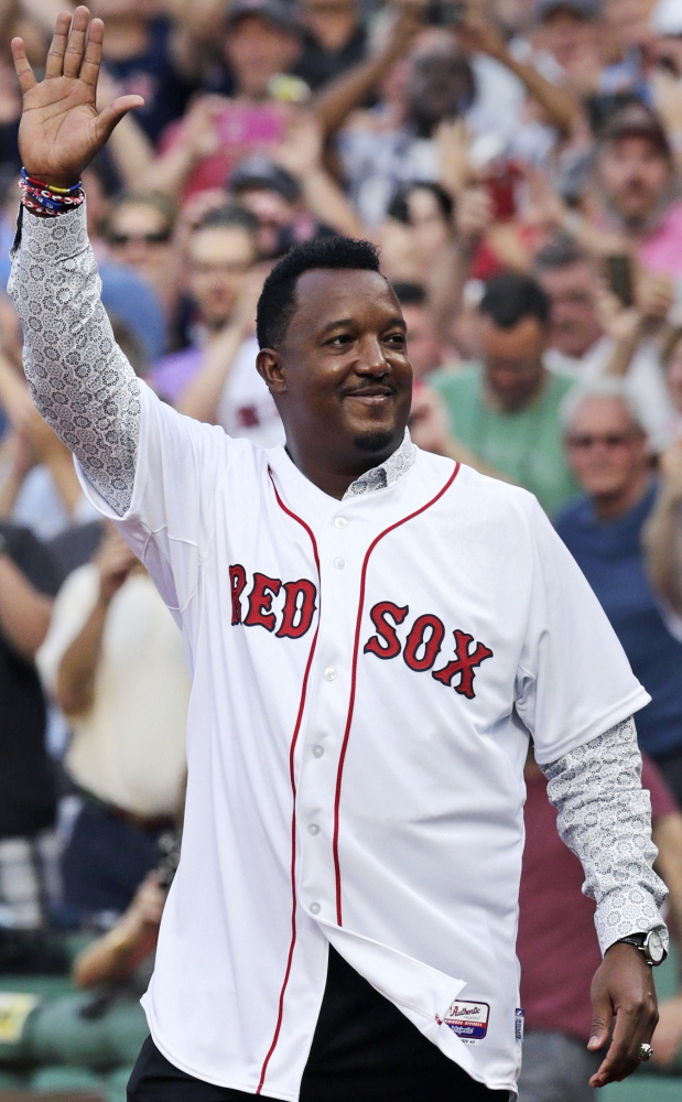Red Sox retire Pedro Martinez's number - Portland Press Herald