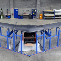 Facebook is planning test flights this year for its solar-powered drone, a high-altitude, long-endurance aircraft with a wingspan as big as a Boeing 737's. It will use lasers to send Internet signals to stations on the ground.
