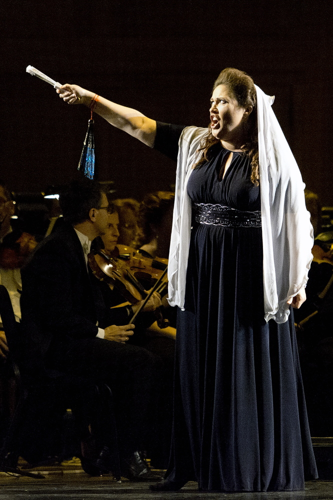 Alexandra LoBianco performs as Tosca during a dress rehearsal. Gabe Souza/Staff Photographer