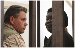 A combination photo shows the owner of the farm where the lion hunt took place, Honest Trymore Ndlovu, right, and guide Theo Bronkhorst. Bronkhorst has been charged in the killing of Cecil, Zimbabwe's best-known lion, while Ndlovu is expected to be charged next week. Meanwhile, Zimbabwe is seeking to extradite Walter J. Palmer, an American hunter. Reuters