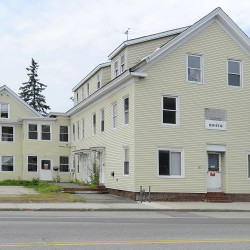 Tenants of the building at 689 Main St. in Westbrook  were moved into motel rooms paid for by the building's owner, City National Bank of Beverly Hills, Calif., which foreclosed on the property in November. Gordon Chibroski/Staff Photographer