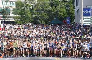 Runners take off at the start of the L.L. Bean 10K road race Saturday in Freeport. Jill Brady/Staff Photographer