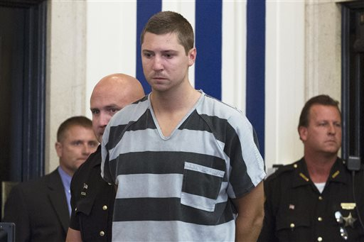 Former University of Cincinnati police officer Ray Tensing appears for his arraignment in the shooting death of Samuel DuBose, Thursday in Cincinnati. The Associated Press