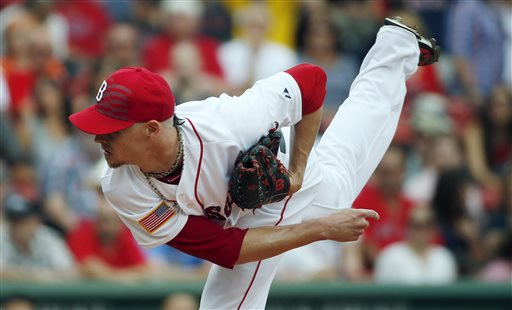 Red Sox pitcher Clay Buchholz came within one out of a shutout against Houston on Saturday. The Associated Press