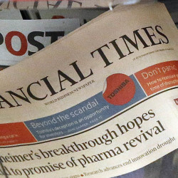 "The Financial Times newspaper is on display in London, Thursday, July 23, 2015. Pearson PLC, the owner of the Financial Times, confirmed Thursday it is in ""advanced discussions"" about the potential sale of the FT Group. The company noted recent press speculation about the potential disposal of the FT Group, but added ""there is no certainty that the discussions will lead to a transaction"", and did not name any potential buyer. (AP Photo/Frank Augstein)"