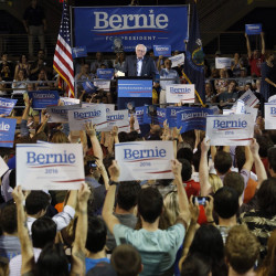 Bernie Sanders' campaign appearance in Portland on Monday evening filled the Cross Insurance Arena, which holds close to 9,000 people. Derek Davis/Staff Photographer