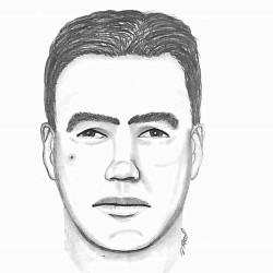 Gorham police released this sketch of one of two men wanted in connection with a burglary and assault on Huston Road on July 19.