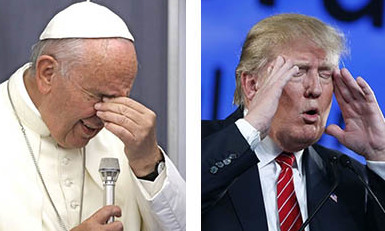 The two poles of our polarized politics: Pope Francis and Donald Trump.