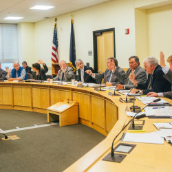 AUGUSTA, ME - JULY 1: The Government Oversight Committee unanimously votes for OPEGA to investigate allegations of state funding withdrawal threats to Good Will-Hinckley from Governor Paul LePage in Augusta, ME on Wednesday, July 1, 2015.(Photo by Whitney Hayward/Staff Photographer)